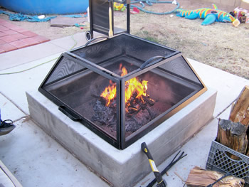 Chimineas, Fire Pits, Custom Screens and Accessories